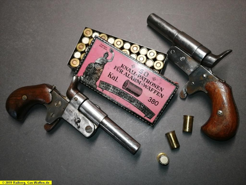 Entlarvt-Pistole, Kaliber .380 Knall