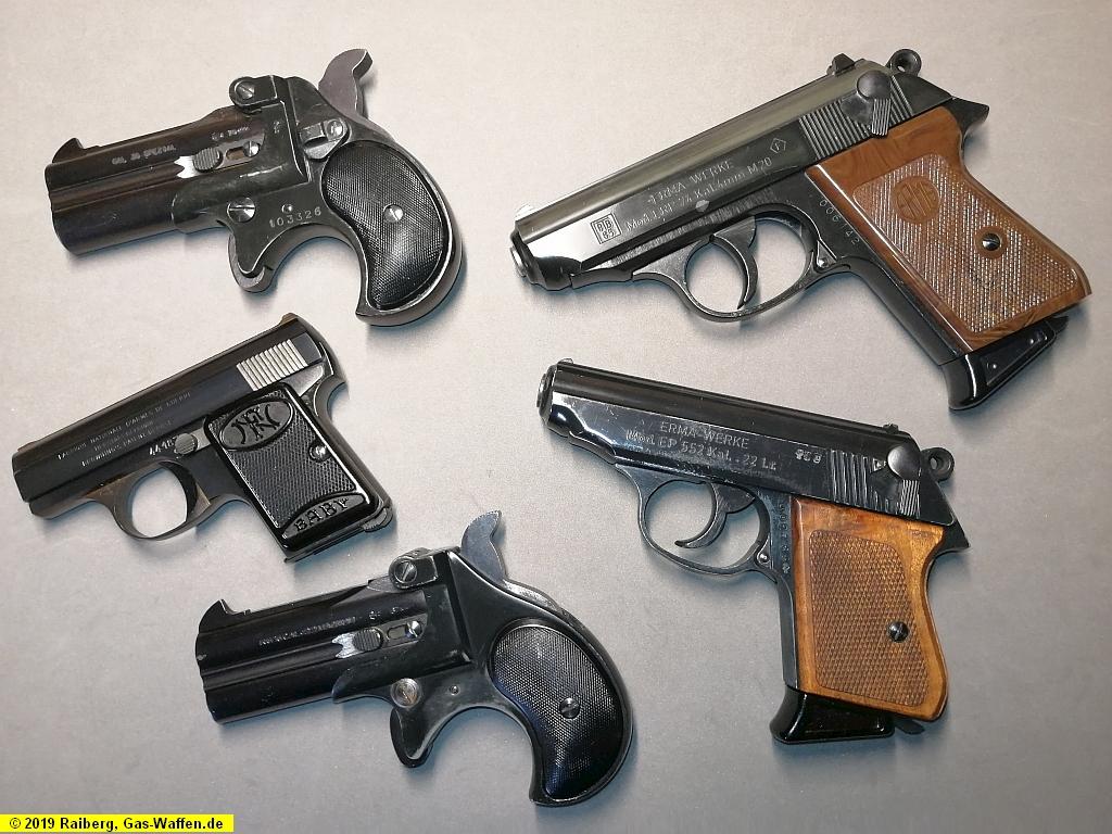 Scharfe Waffen, Vorbilder der Schreckschuss- und Gaswaffen