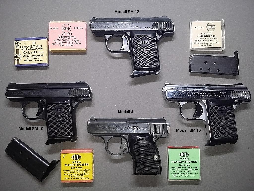 Rhöner-Pistolen, Modell 4, Modell 10, Modell 12