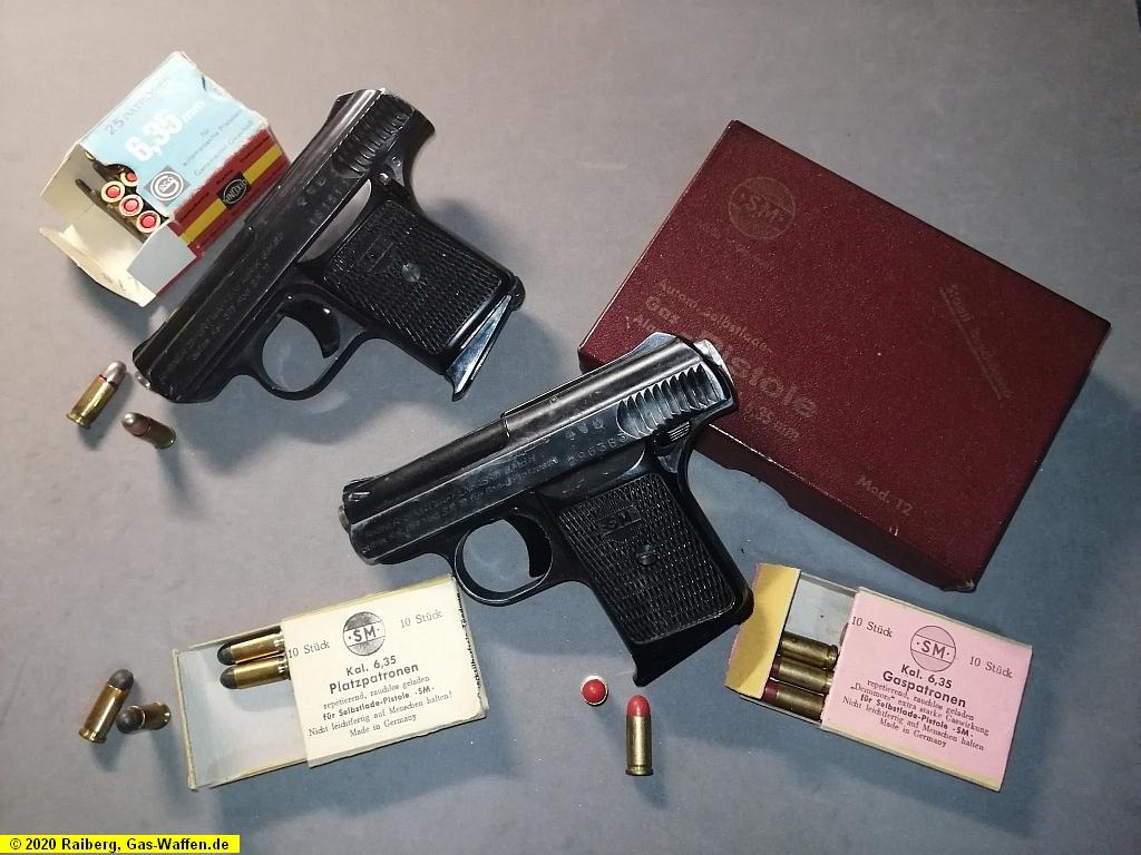 Rhöner, Modell SM 11, SM, Kaliber 6,35 mm Browning, Halbrandpatrone