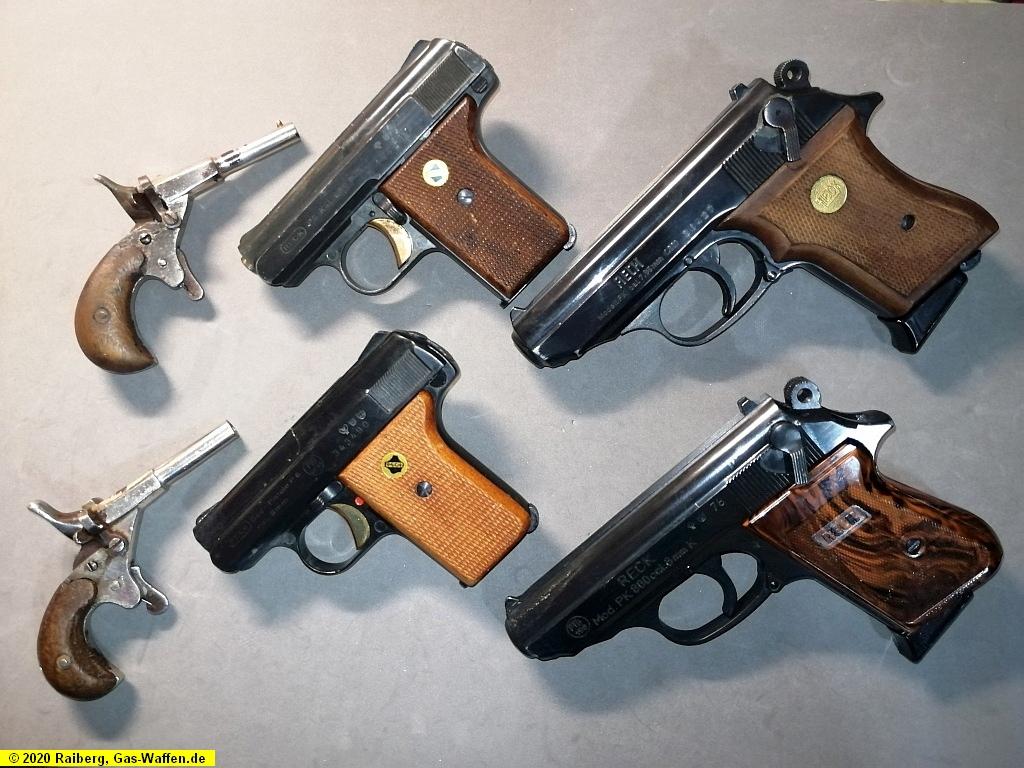 Parallele Entwicklungen, nebenher gebaut, gleiche Waffen, Reck,  Radfahrer-Pistole, P8, P6, PK, PK800