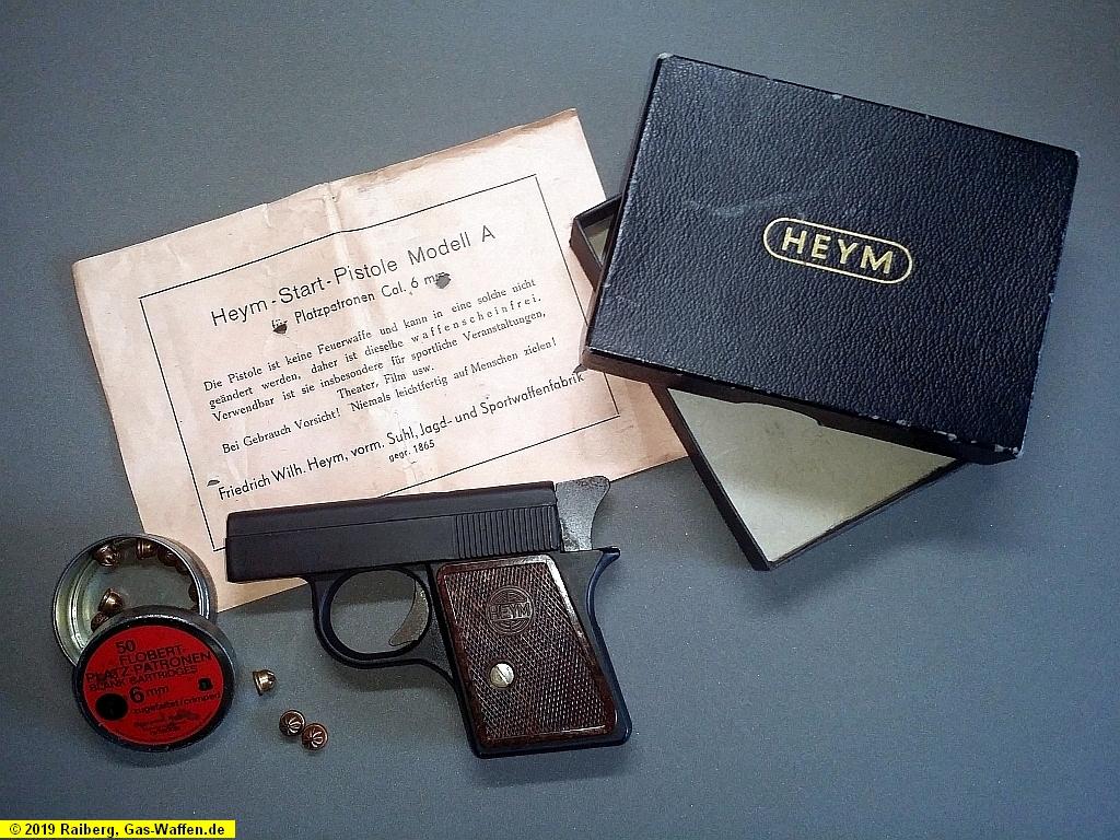 Heym-Startpistole, Modell A, Kaliber 6 mm Flobert Platz