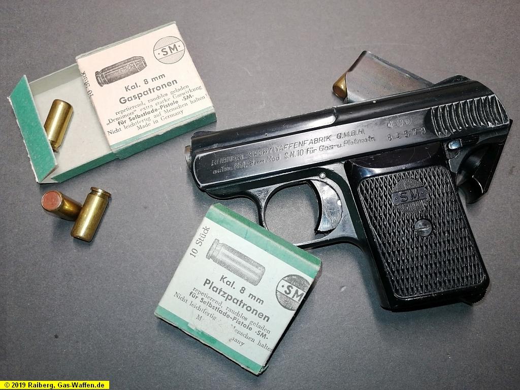 Rhöner Modell SM 10, Gaspistole, Schreckschusspistole, 8 mm Knall