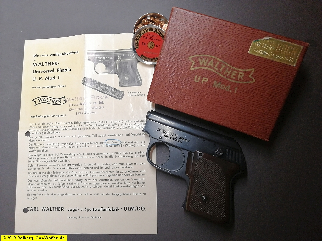 Pistole Walther, Modell U.P. 1, Typ 1