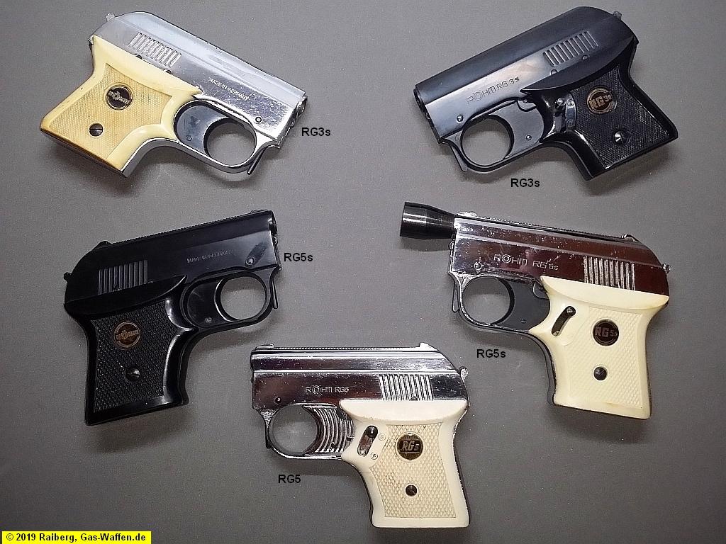 Röhm-Pistolen, RG3s, RG5, RG5s