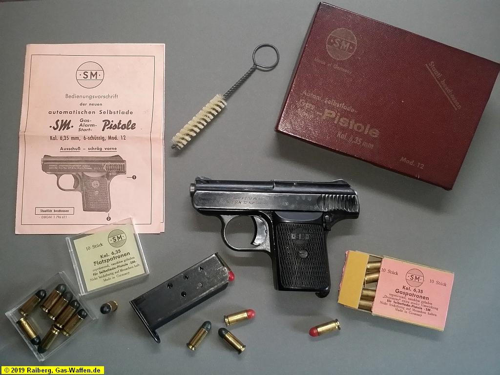 Rhöner, Modell 12, Kaliber 6,35 mm Browning Platz und Gas