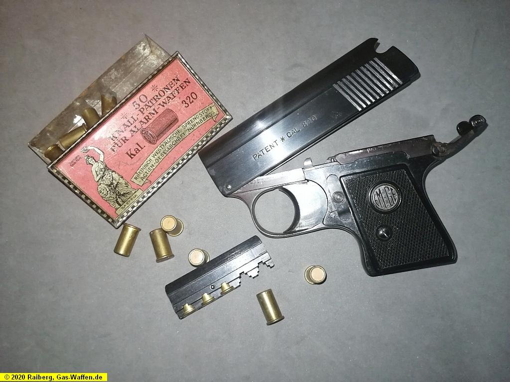 Pistole EM-GE, Modell 4, Startpistole, Kaliber .320 Knall, Taschenpistole
