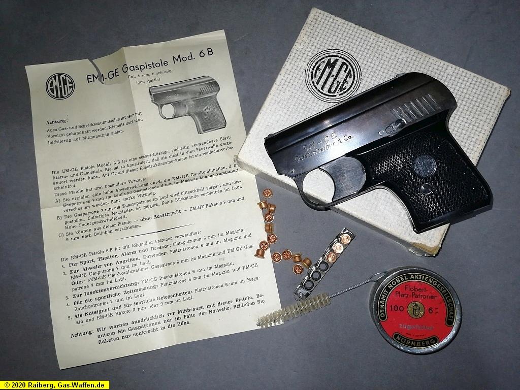 EM-GE, Modell 6B, 6 mm Flobert, Gas-Pistole