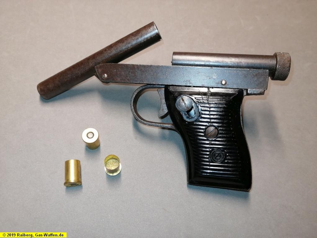 Scheintodpistole, A. Austmeier, Kal. 9 x 15 Schermer aus Odenburg