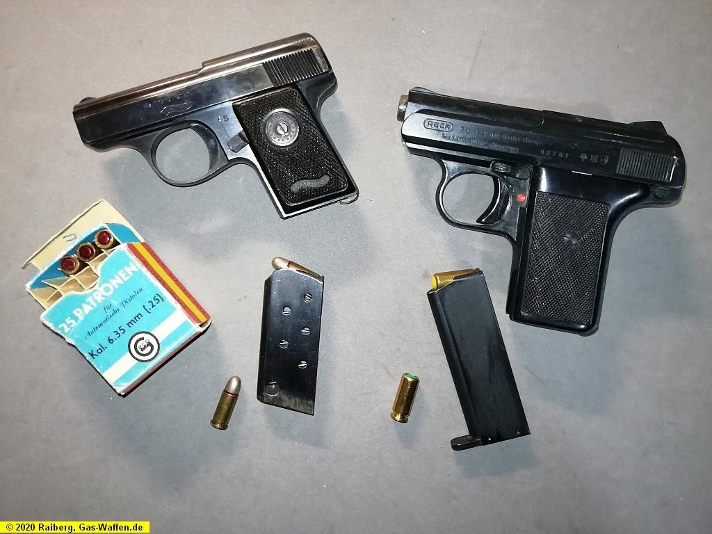 Walther, Modell 9, Reck, Modell P6, Kaliber 6,35 mm Browning, Kaliber 8 mm K, Pistolen, Geco