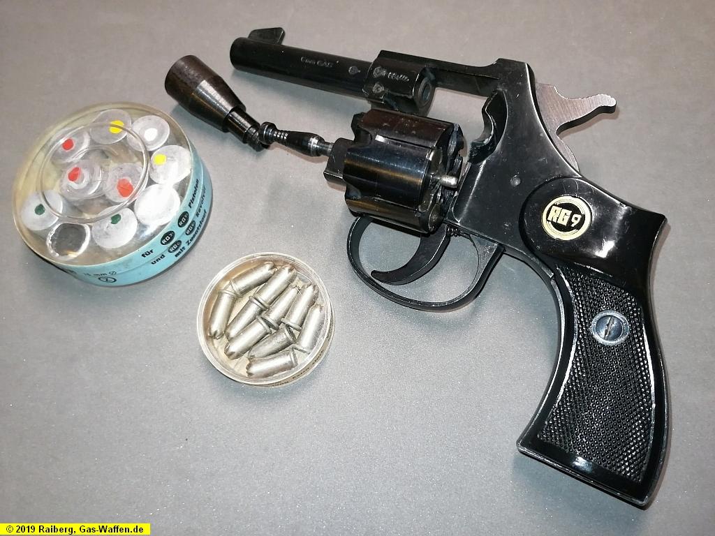 Revolver Röhm, Modell RG 9, Schreckschuss und Gas