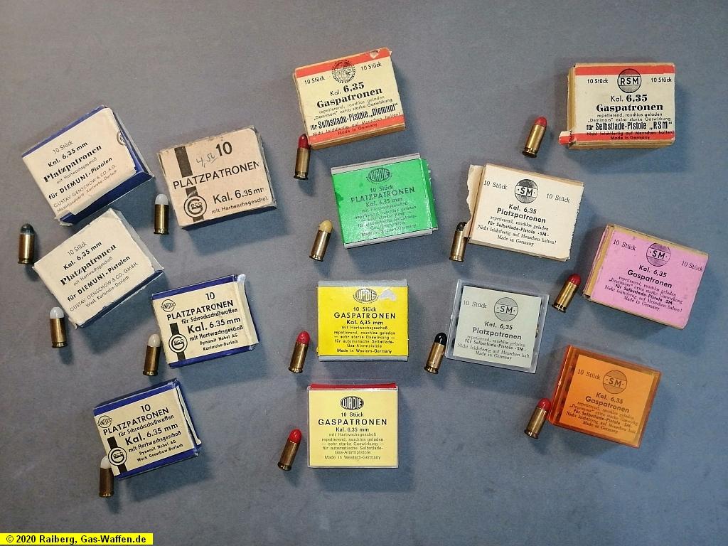 Munition, Patronen, Kaliber 6,35 mm Browning, Platz, Gas