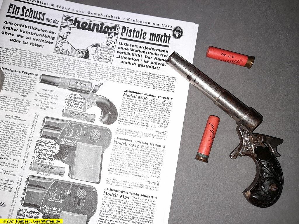 Burgsmüller, Scheintod-Pistole Nr. 2, Kaliber 12 mm Scheintod