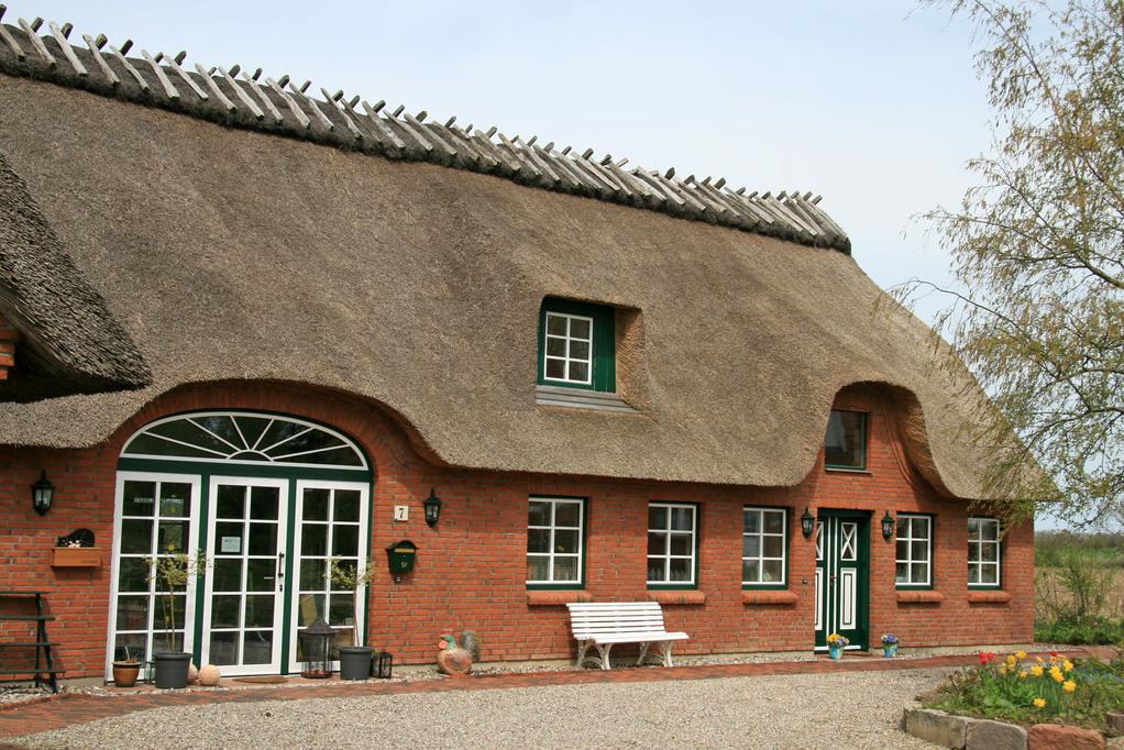 Unser Reetdachhaus in Goldhöft / Gelting