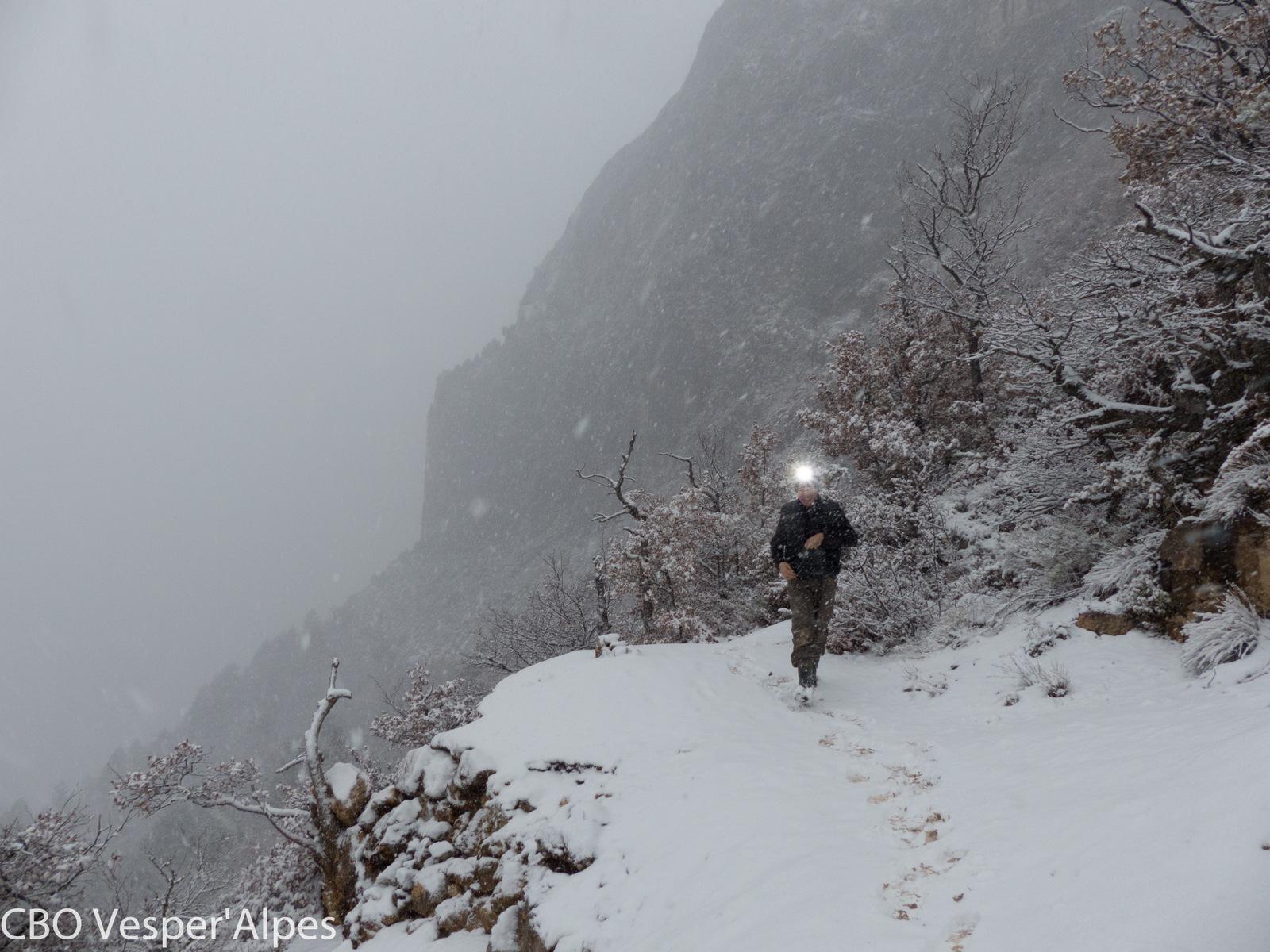 Prospection en conditions hivernales !