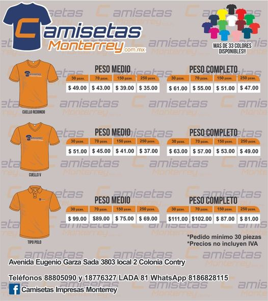 www.camisetasmonterrey.com.mx