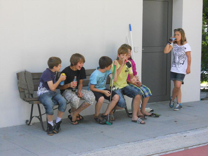 Den D-Junioren machte das Minigolf sichtlich Spass.