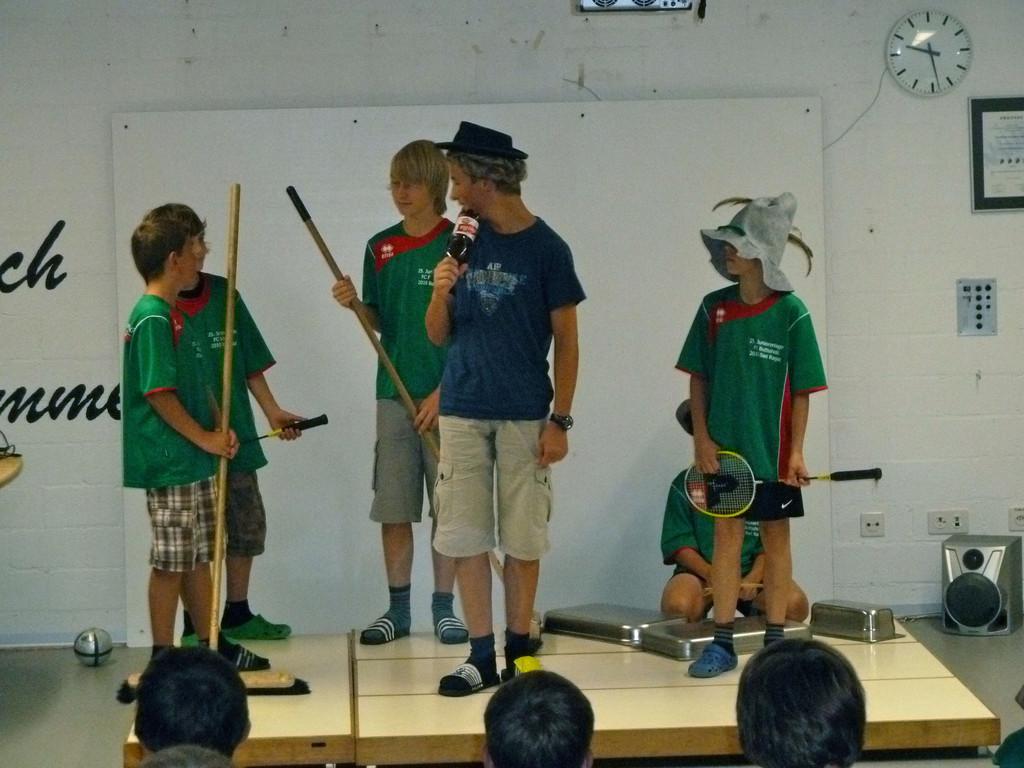 Im Wettbewerb der Junioren gab es Musik von Bligg.