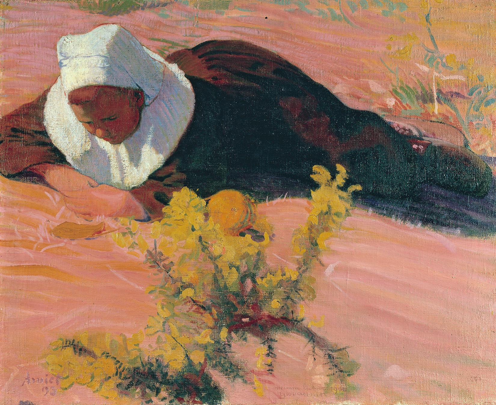 Cuno Amiet, Liegende Bretonin, 1893, Kunsthaus Zürich