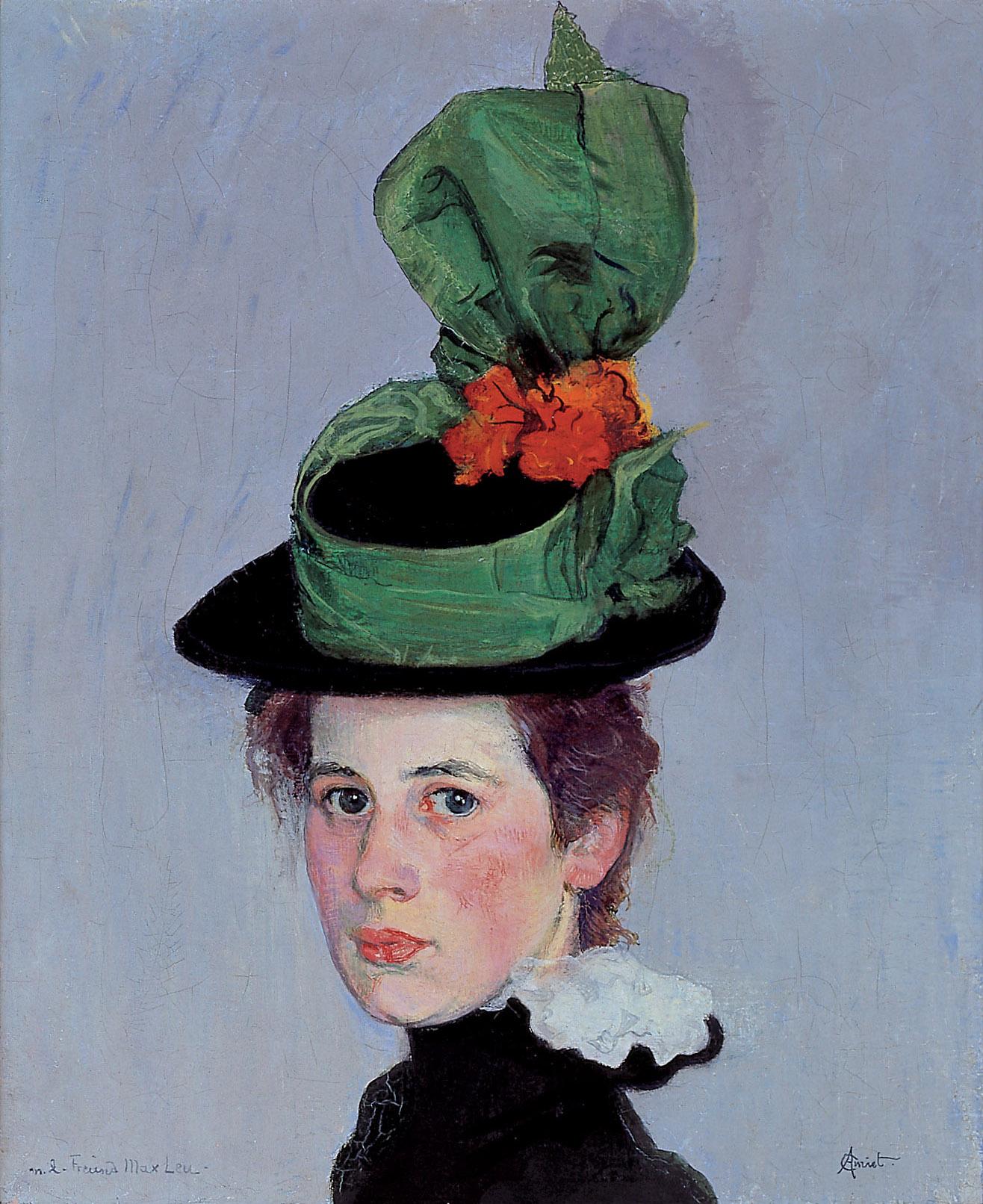 Cuno Amiet, Der grüne Hut, 1897/98 - ausgestellt in Venedig, 1934