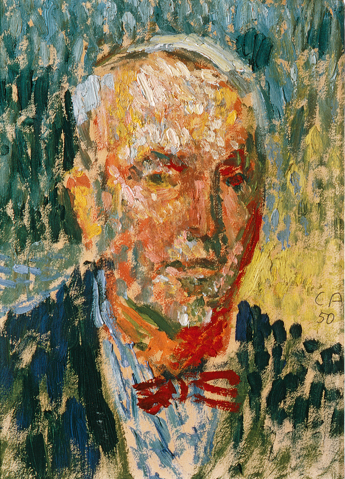 Cuno Amiet, Self-portrait, 1950