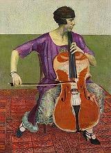 Cellospielerin, Bildnis Jeanne Rauch-Godot, Öl/Leinwand, 1926
