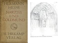 Hermann Hesse, Narziss und Goldmund, Suhrkamp Verlag. Cuno Amiet, Skizze zu «Narziss und Goldmund»