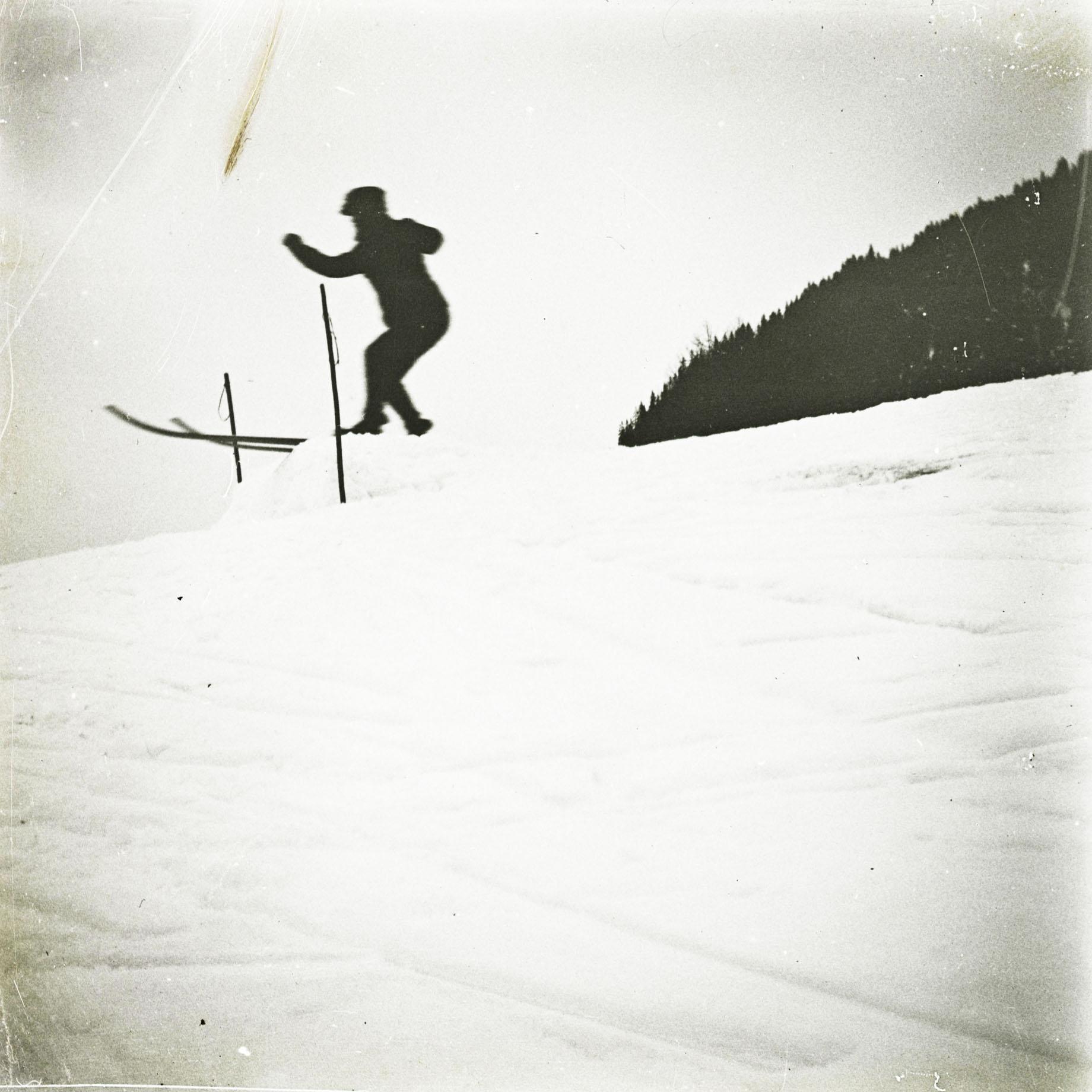 Cuno Amiet auf der Sprungschanze, Davos, 1912