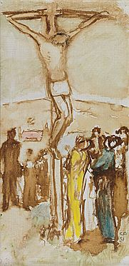 Cuno Amiet, Kleine Kreuzigung, Öl/Leinwand, 1931