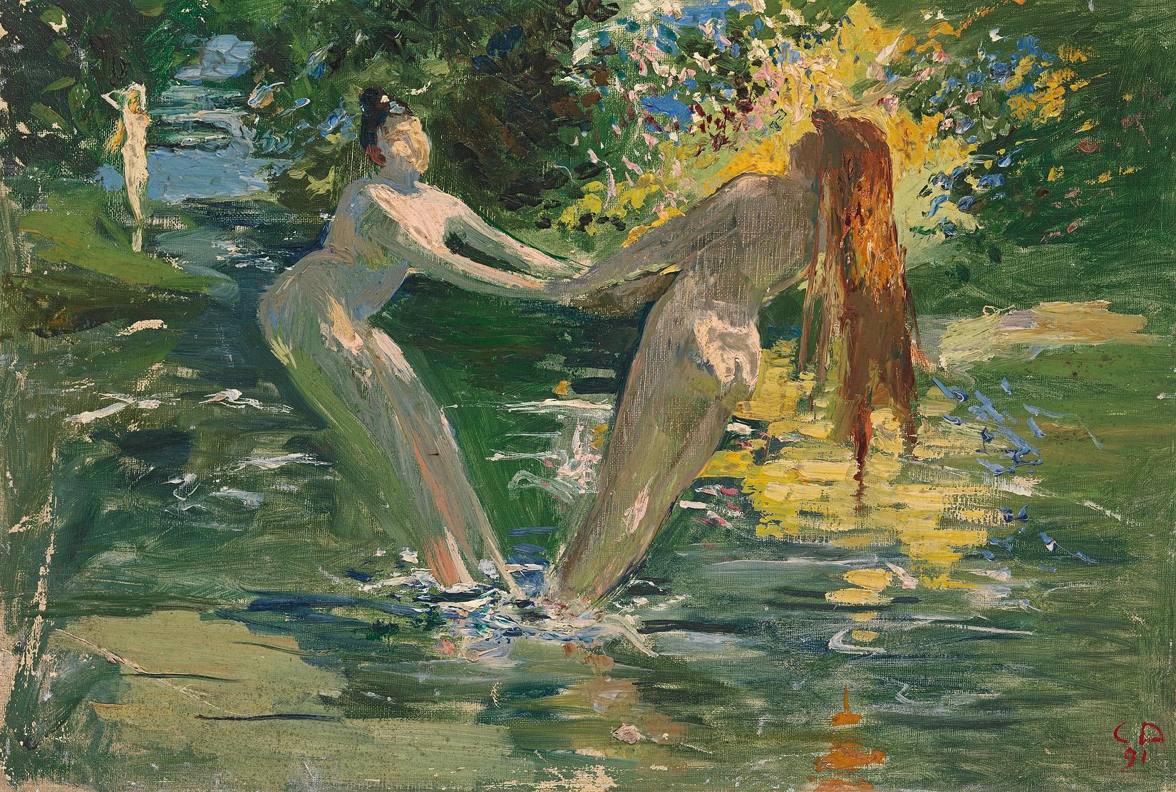 Cuno Amiet, Tanz im Bad, 1891