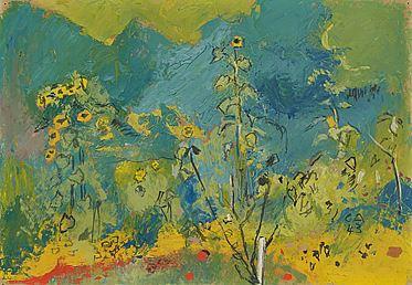 Sommergarten auf der Oschwand, Öl/Karton, 1943