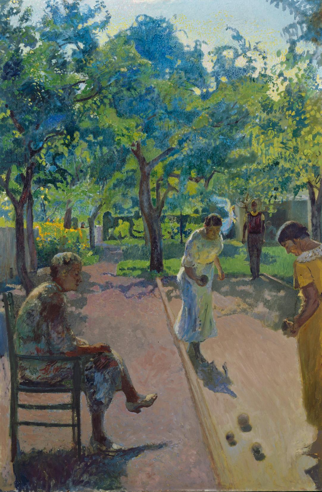 Cuno Amiet, Die blaue Landschaft, 1931