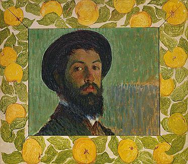 Selbstbildnis, 1895, Öl/Leinwand, Bündner Kunstmuseum
