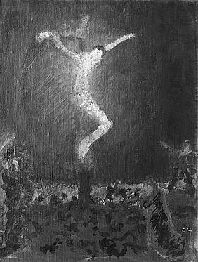 Cuno Amiet, Kreuzigung, Öl/Leinwand/Karton, 1907