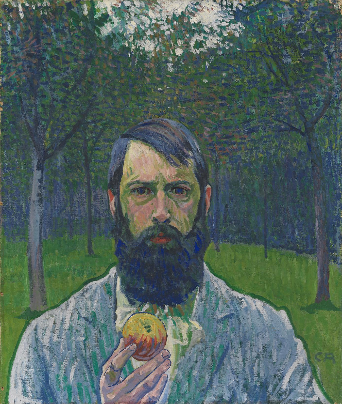 Cuno Amiet, Selbstbildnis mit Apfel, 1901/02