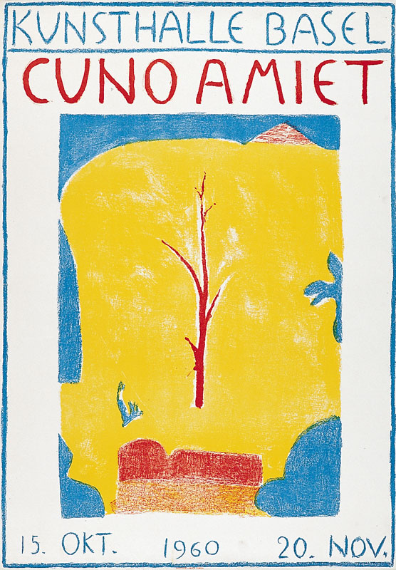Cuno Amiet, Kunsthalle Basel, poster, 1960