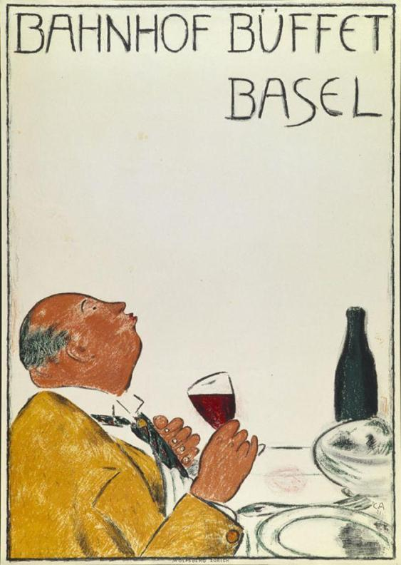 Cuno Amiet, Station Buffet Basel, poster, 1921