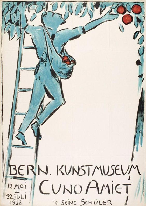 Cuno Amiet, Museum of Fine Arts Berne, poster, 1928