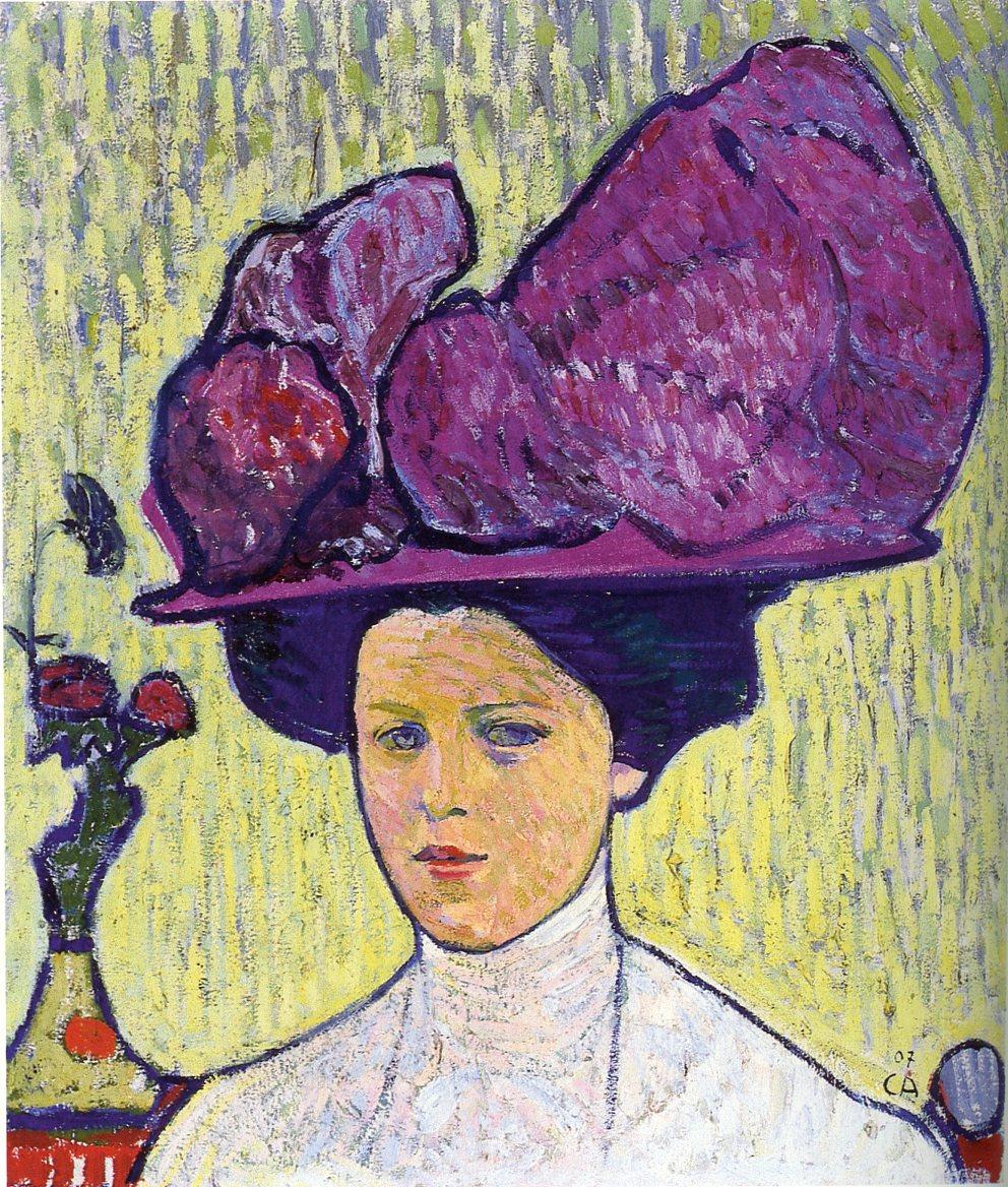 Cuno Amiet, der violette Hut, 1907, Kunstmuseum Solothurn