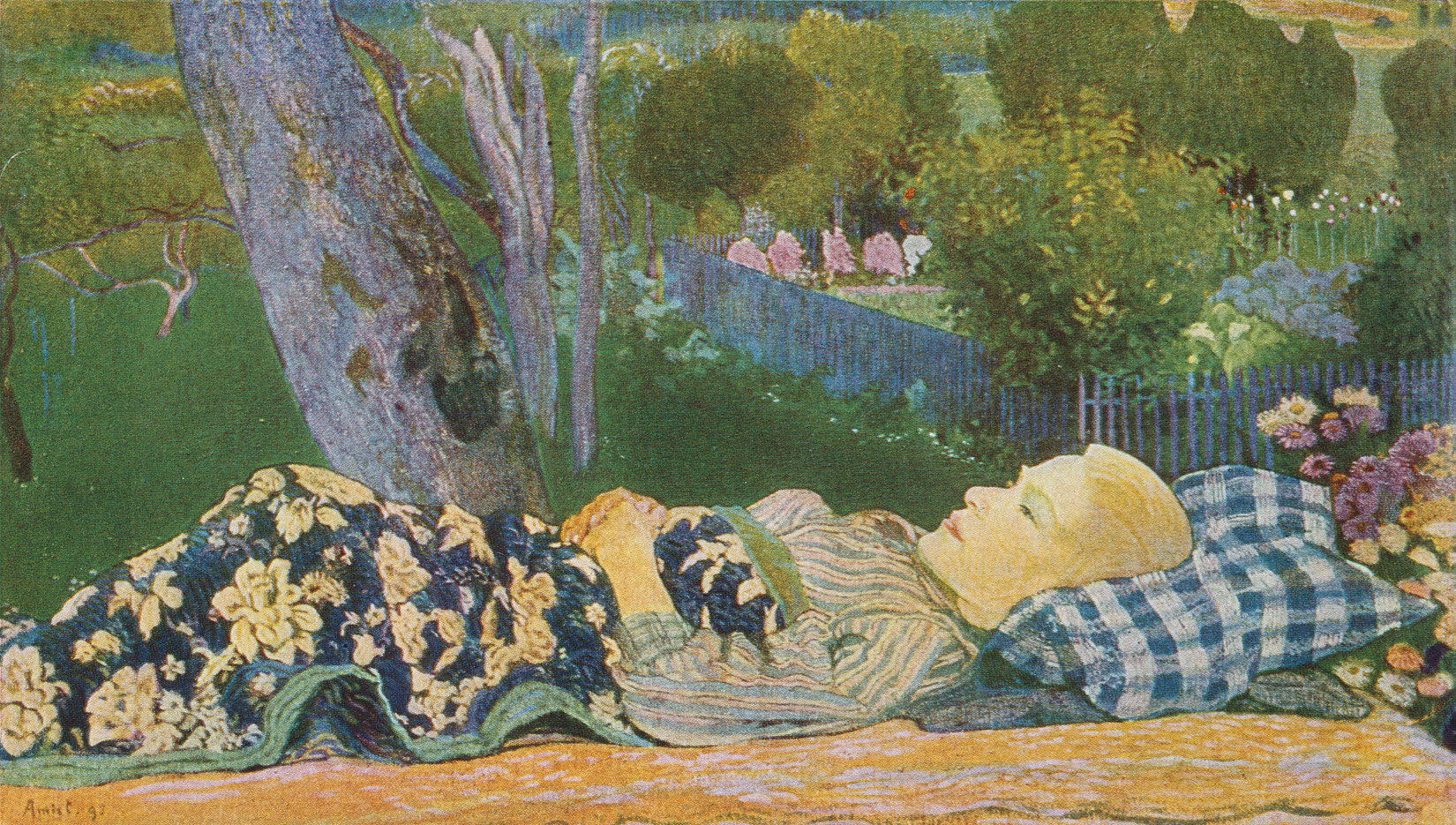 Cuno Amiet, The Sick Boy, 1895, burned in Munich, 1931