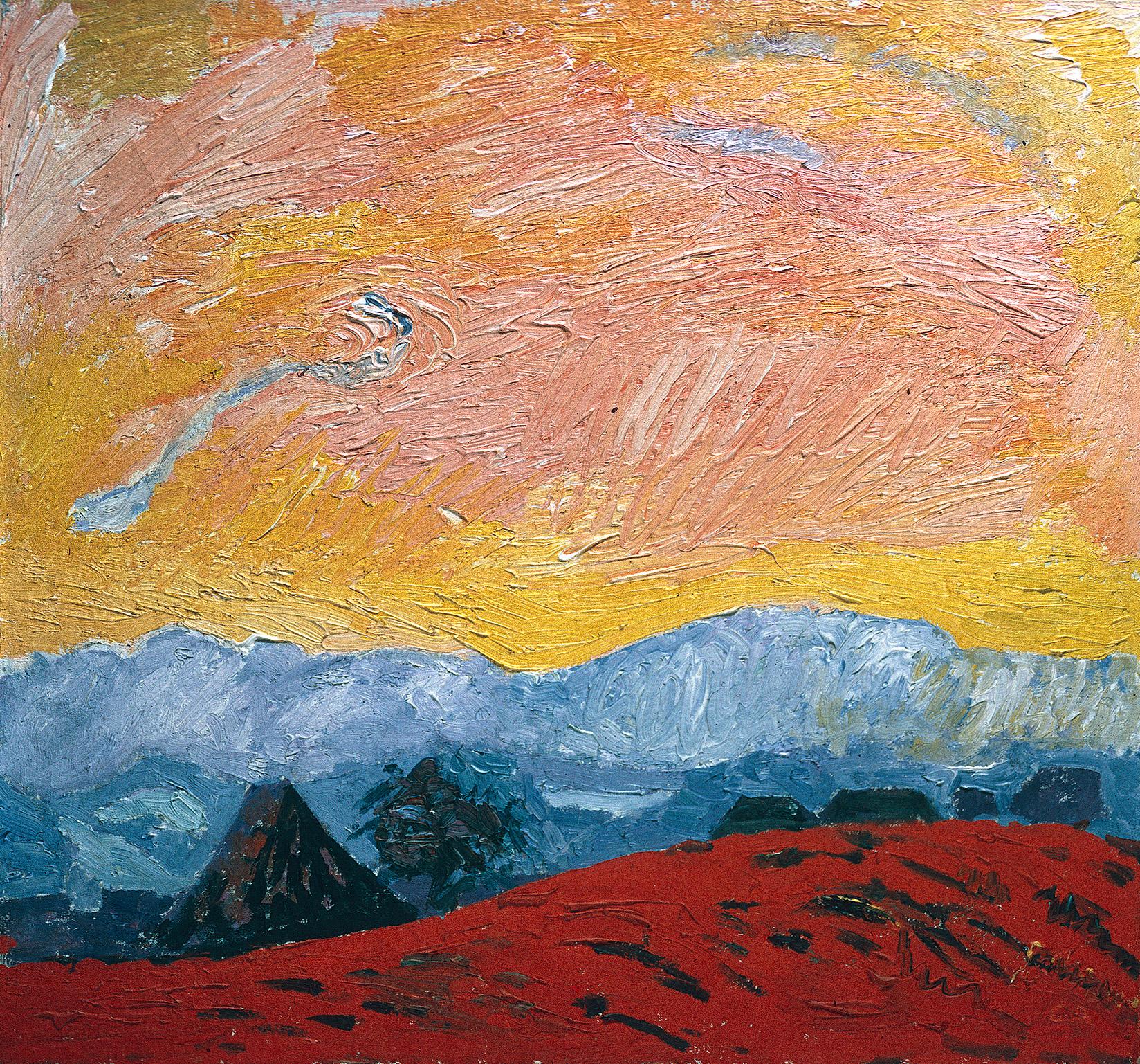 Cuno Amiet, Winterlandschaft (rot), 1928