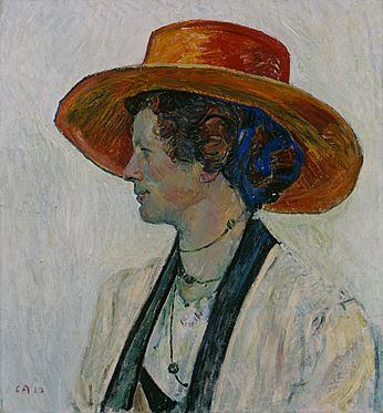 Cuno Amiet, Portrait (Annel), 1910, Öl/Leinwand