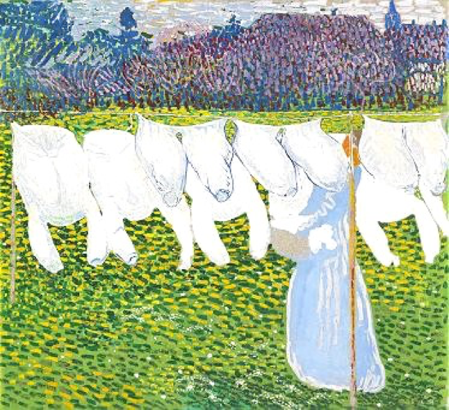 Cuno Amiet, The Washing, circa 1904