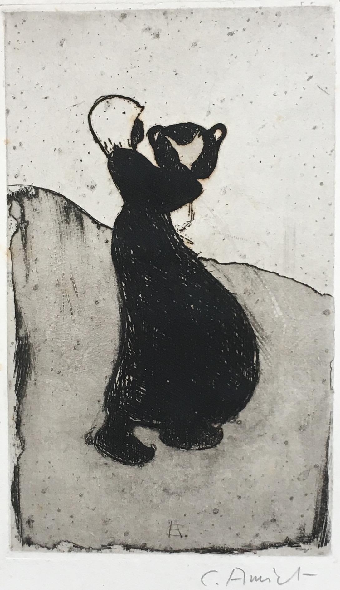 Cuno Amiet, Bretonisches Mädchen, Radierung, 1893