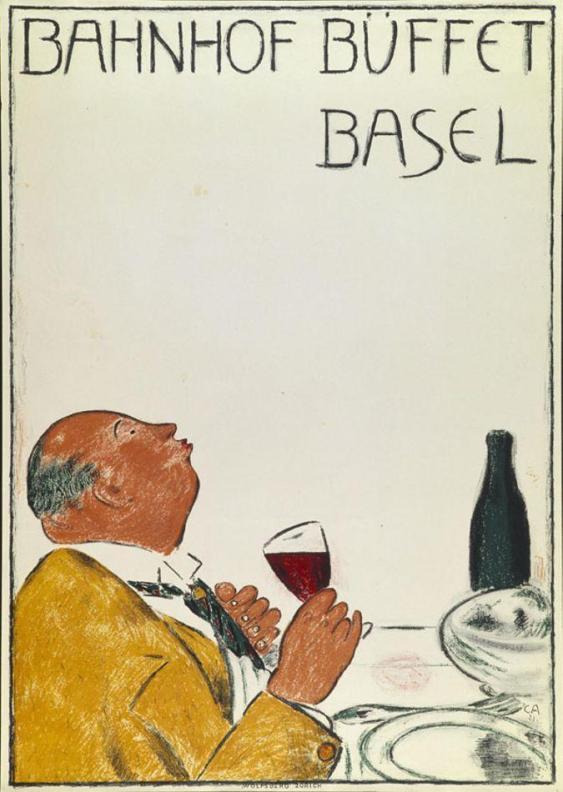 Cuno Amiet, Bahnhofbuffet Basel, Plakat, 1921