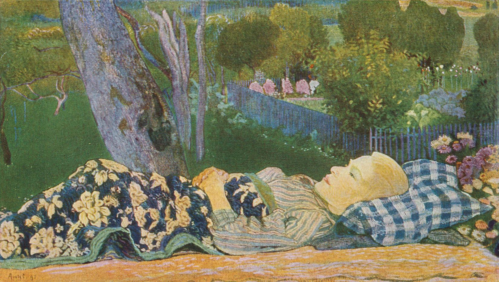 Cuno Amiet, der Kranke Knabe, 1895, verbrannt in München, 1931