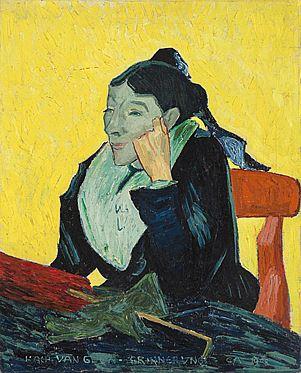 Cuno Amiet, L'Arlésienne. Kopie nach Vincent van Gogh, Öl auf Leinwand, 1908, Privatbesitz