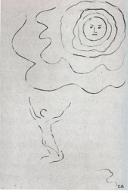 """Zeichnung Cuno Amiet zu Gedicht """"Besinnung"""" von Hermann Hesse"""