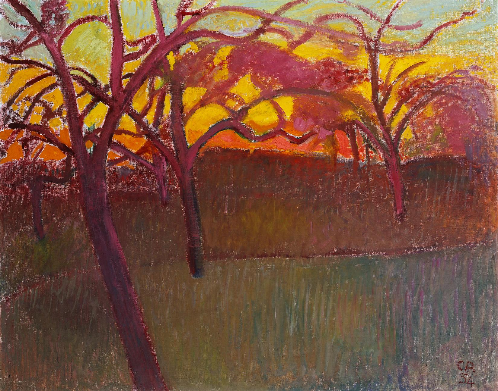 Cuno Amiet, Sonnenuntergang, 1954