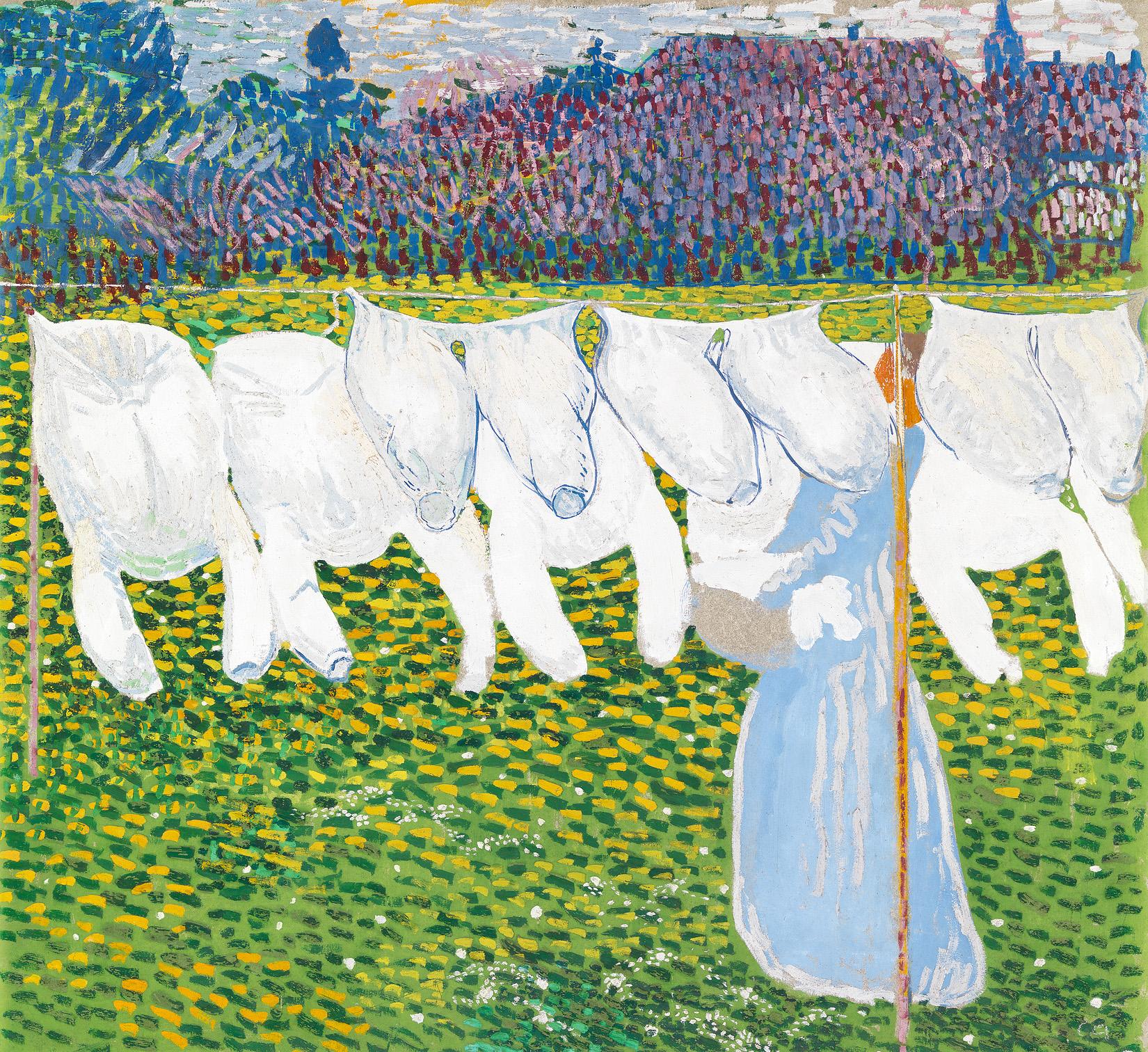 Cuno Amiet, Die Wäsche, um 1904